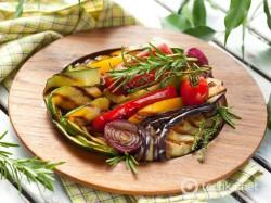 Овощи на гриле в простом маринаде